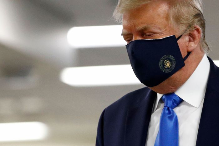 President Trump with Branded PPE